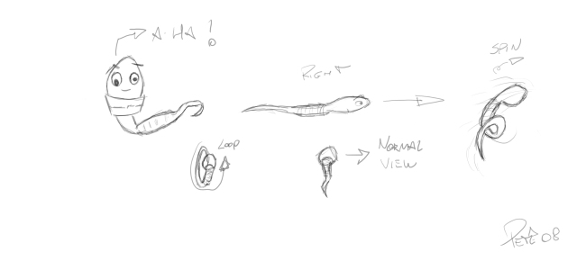 Early Sperm Sketches - by Pedro Thiago