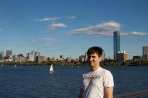 Boston's skyline over charles river basin